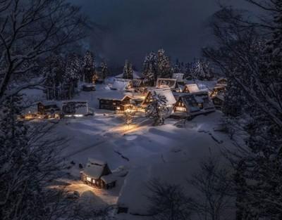 日网民分享雪景 美得像童话世界