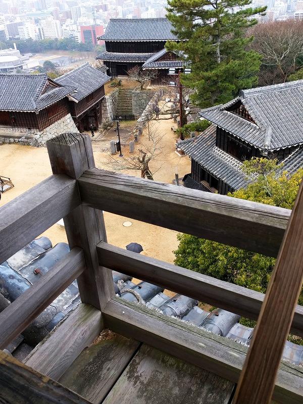 伊予松山城隅櫓からの眺め