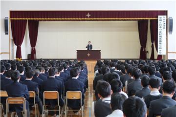 驻札幌总领事孙振勇在日本大学札幌高等学校发表演讲