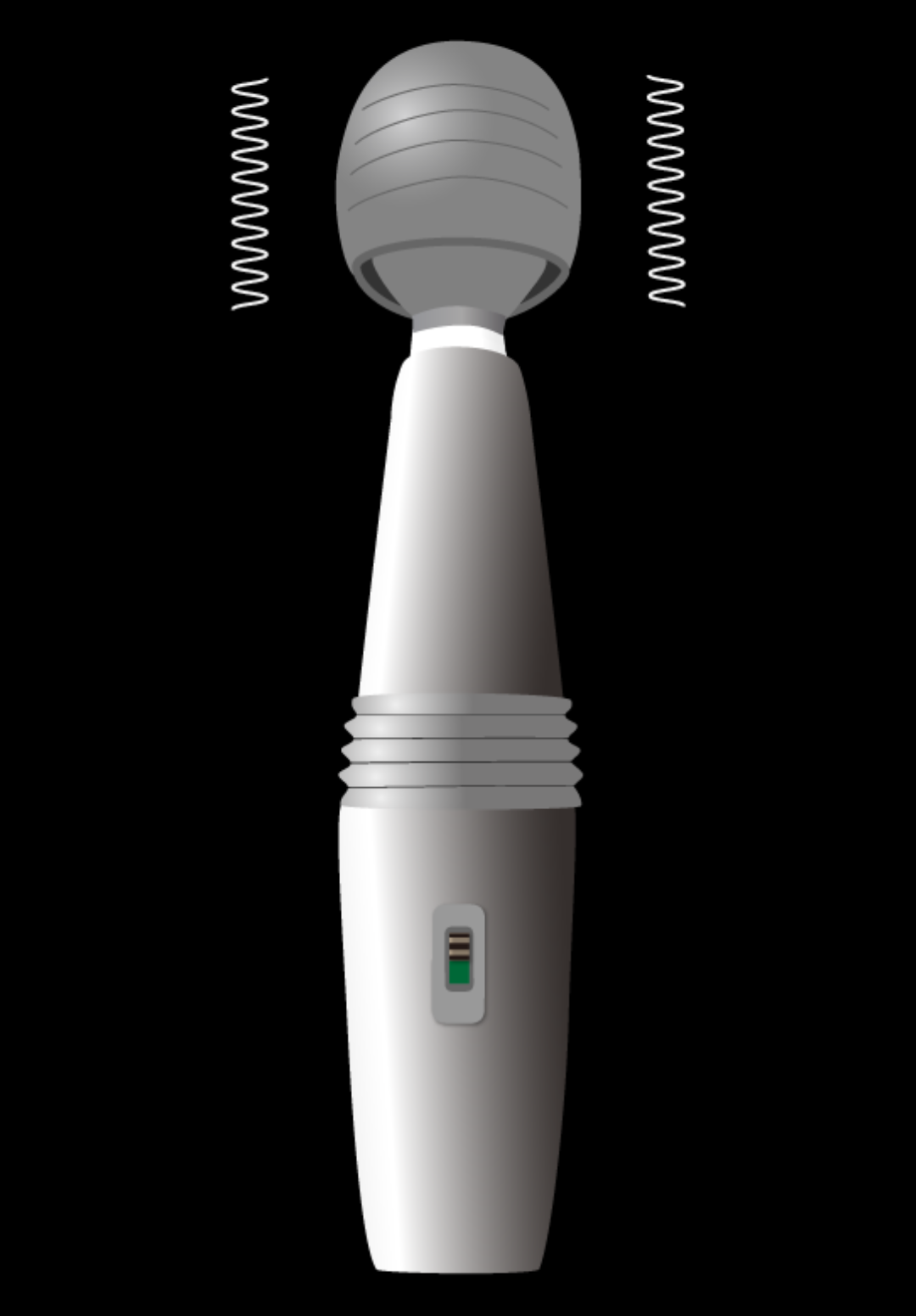 マッサージアプリ「電動マッサージ器」のON状態画面