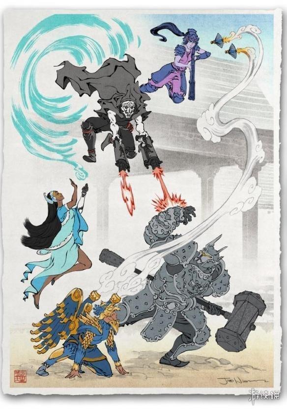 日本浮世绘风格的《守望先锋》 还真挺好看