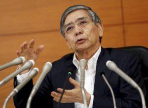 黑田东彦:日本不限基础货币规模 尽快实现2%物价目标