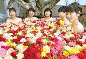 高知县马路温泉玫瑰浴活动让女性享受公主般体验