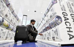 中部机场82台扭蛋机受到访日外国人的欢迎