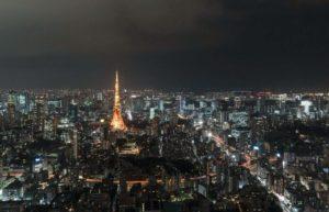 暮色富士山、辉煌东京塔 东京夜空缩时画面好美