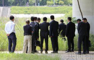 中国公安人员就兵库留学生碎尸案进行现场勘察