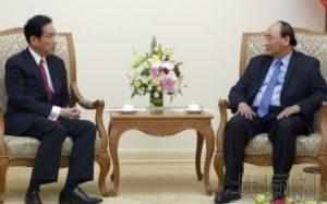 岸田文雄与越南总理会谈 确认TPP生效后合作