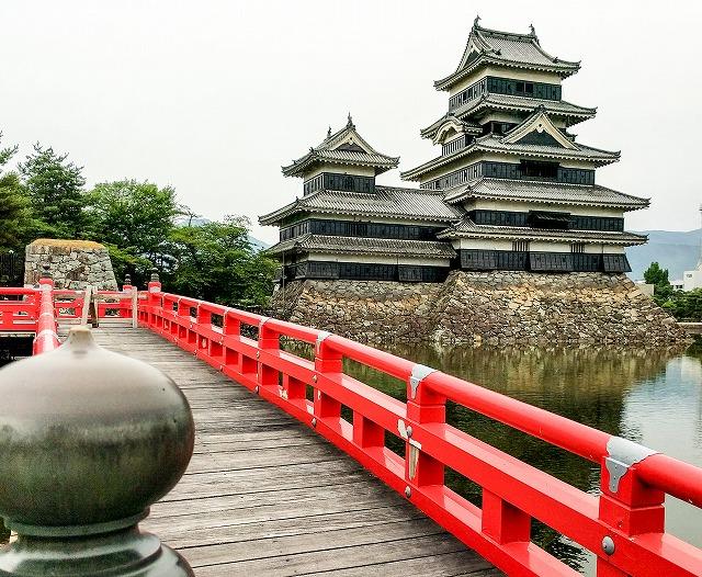 松本城と埋橋