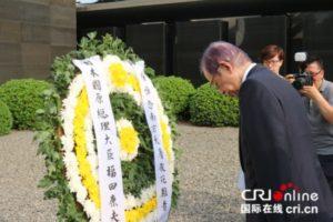 日本前首相福田康夫参观侵华日军南京大屠杀遇难同胞纪念馆