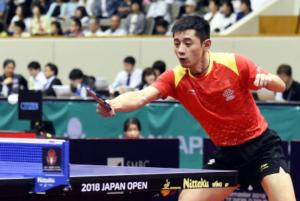 """日本乒乓球公开赛张继科摆脱""""一轮游"""""""