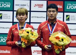 梁靖昆/陈幸同获日本乒乓球公开赛混双冠军