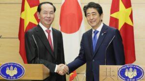 安倍与越南主席就推进海洋安全及防卫合作达成一致