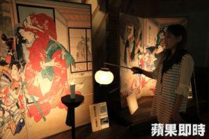 日本高知绘金藏提灯笼看浮世绘