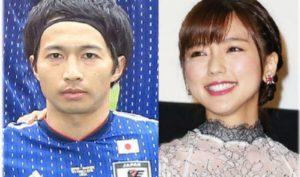 日本足球运动员柴崎岳与女演员真野惠里菜本周完婚