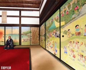 一休和尚创建的寺院公开新隔扇画