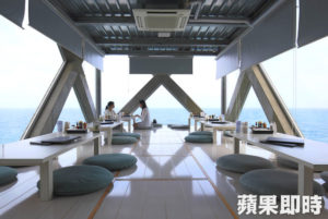 日本绝景咖啡屋仿佛漂浮海上