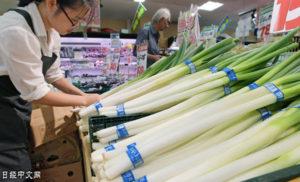 日本蔬菜受灾缺货 中国蔬菜摆上店头