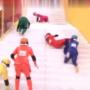 日本女星爬滑溜溜楼梯,这摔下的姿势简直逆天了