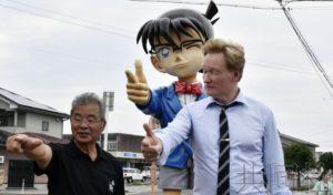 """美国知名主持人访问日本鸟取县 """"柯南""""带来缘分"""