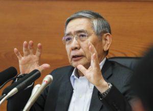 日银总裁黑田东彦:将长时间维持不升息