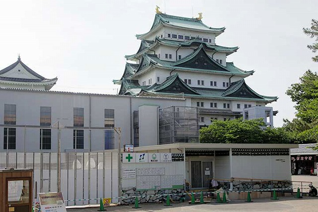 工事中の名古屋城