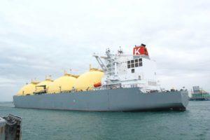 台日澳天然气合作首艘澳洲Ichthys液化天然气船抵台