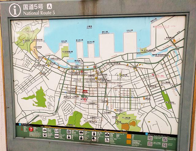 小樽の観光案内図