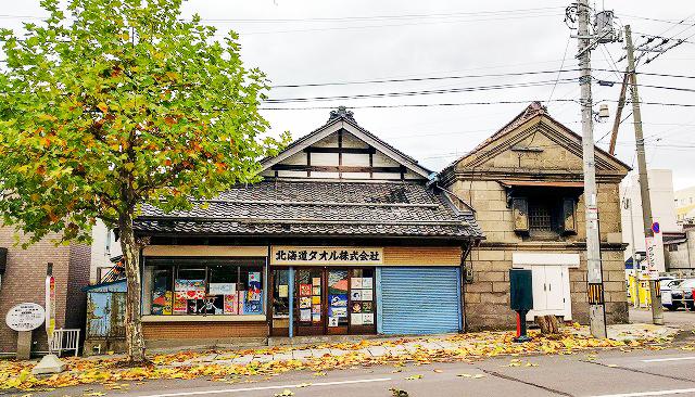 蔵もある北海道タオル店舗