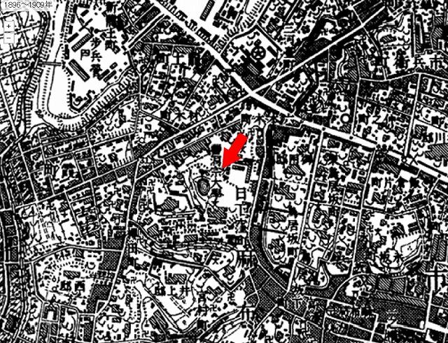 明治時代の六本木テレビ朝日前の地図
