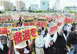驻日美军基地搬迁问题惹恼冲绳民众