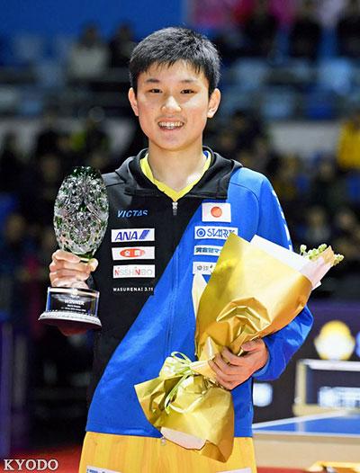 张本智和:今后也要继续战胜中国选手