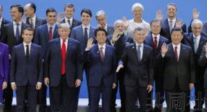 安倍在G20峰会敦促美中就贸易摩擦保持克制