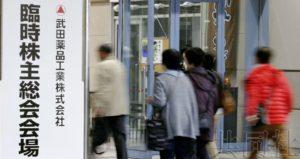 武田药品股东大会通过巨额收购夏尔议案