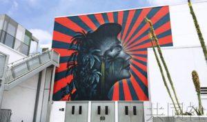 美国学校酷似旭日旗壁画遭韩裔居民抗议