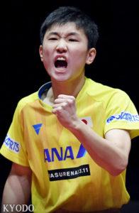 乒乓球世界排名:张本智和升至第3