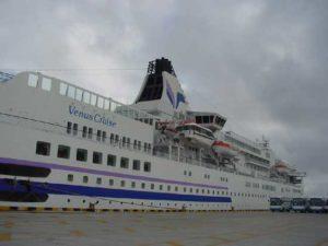 日籍客轮「太平洋维纳斯号」 首度泊靠安平港