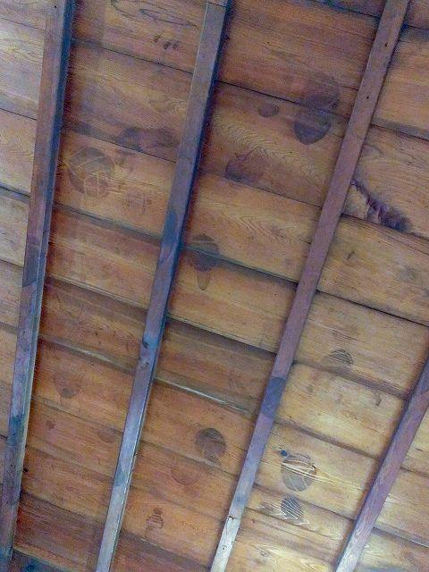 川越城本丸御殿 広間 バレーボールの跡が付いた天井