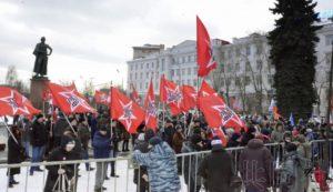 莫斯科举行集会反对归还北方四岛 数百人参加