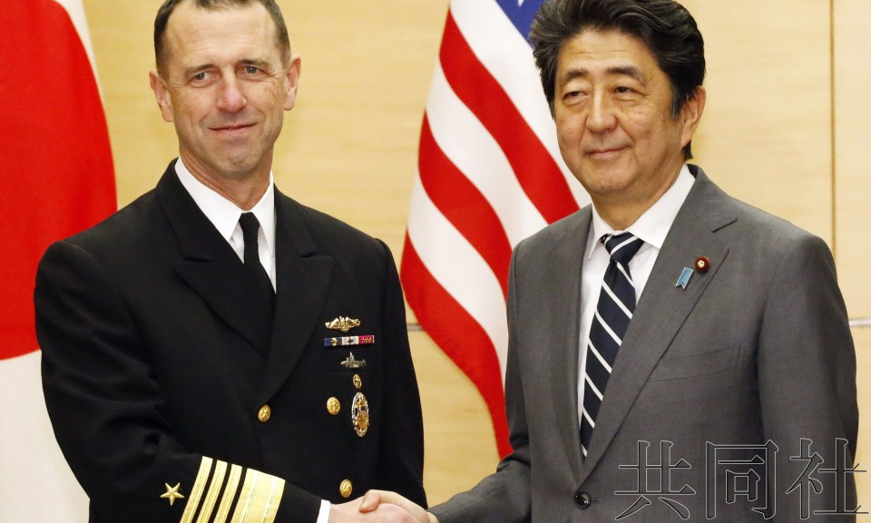 安倍与美国海军高官会谈 拟强化同盟合作