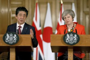 详讯:日英首脑就构建新经济协定达成一致