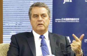 WTO总干事对中国参与电子商务规则制定感到高兴
