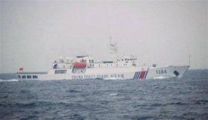中国海警船一度驶入尖阁领海 为今年第6天