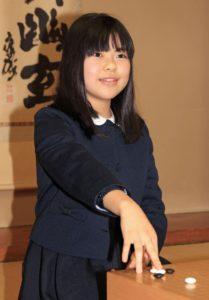 日再出小学生职业棋士上野梨纱史上第3年轻