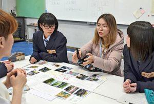 外国留学生与岛根县高中生开展交流