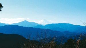 眺望富士山迎接第一道曙光