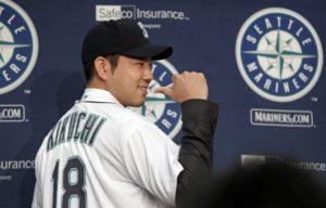 MLB/再过6天和铃木一朗练球菊池雄星超兴奋