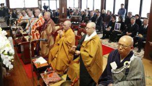 大阪统国寺举行韩国劳工遗骨奉还式