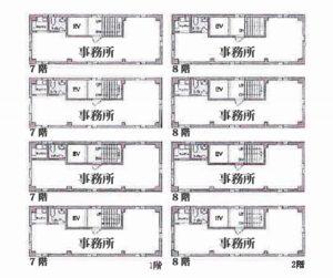 日本橋浜町阿部ビル 平面図
