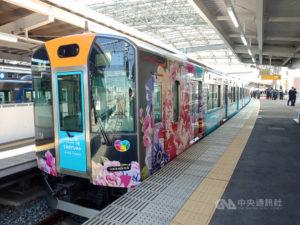 捷运外交桃捷彩绘车现身日本阪神电铁