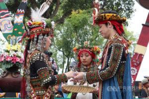 屏东南岛族群婚礼吸引中国日本新人参加